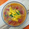 Taco Tortilla Soup with Tabasco Chipotle Topping