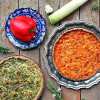 2 Savory Vegetables Tarts with Gluten Free Crust