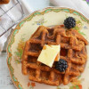 Sweet Potato Spiced Rum Waffles