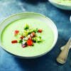 Chilled Avocado & Yogurt Soup with Tomato Salsa
