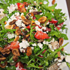 Awesome Strawberry Hazelnut Salad with Balsamic Chicken & Goat Cheese
