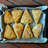 Savory Cheese Scone Recipe: Parmesean Wheat w/Tomato Goat Cheese Spread