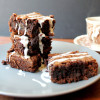 Fudgey Earl Grey Brownies with Earl Grey Drizzle