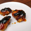 Bacon-Wrapped Grilled Apricot Chicken with Goat Cheese Appetizers