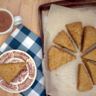 Carrot Cake Scones Drizzled with Honey
