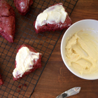 Red Velvet Scones with Cream Cheese Frosting