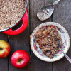 Baked Apple Casserole with Chocolate Oat Topping