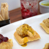 Mini Chicken and Waffles Appetizer with Two Dipping Sauces