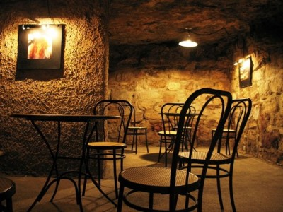underground cafe at labryinth buda castle budapest hungary
