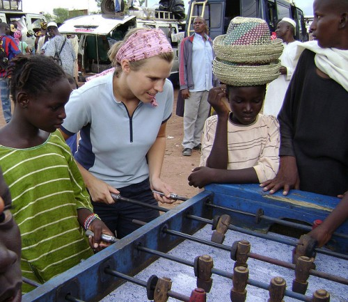 Lexi foosball Mali Talking about Travel Memoirs with Alexis Grant