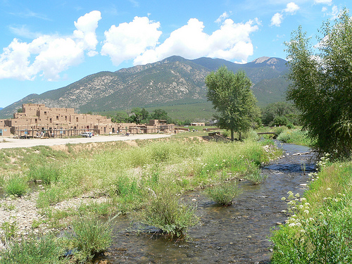 taos new mexico in summer