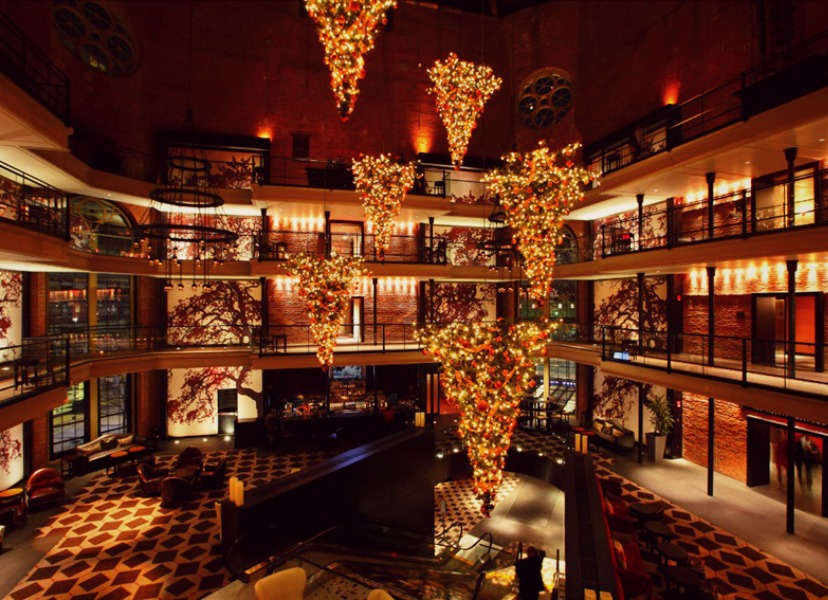Photo Essay Sparkling Hotel Lobbies Decked Out For Christmas