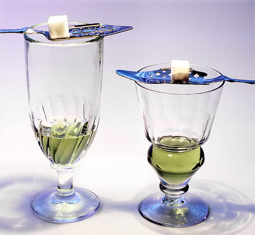 Two absinthe glasses Everything You Wanted to Know About Absinthe but were Afraid to Ask
