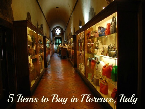 5 Items To Buy In Florence Italy