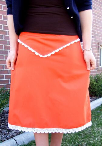 orange skirt The Psychology of Color: How to Choose What to Wear