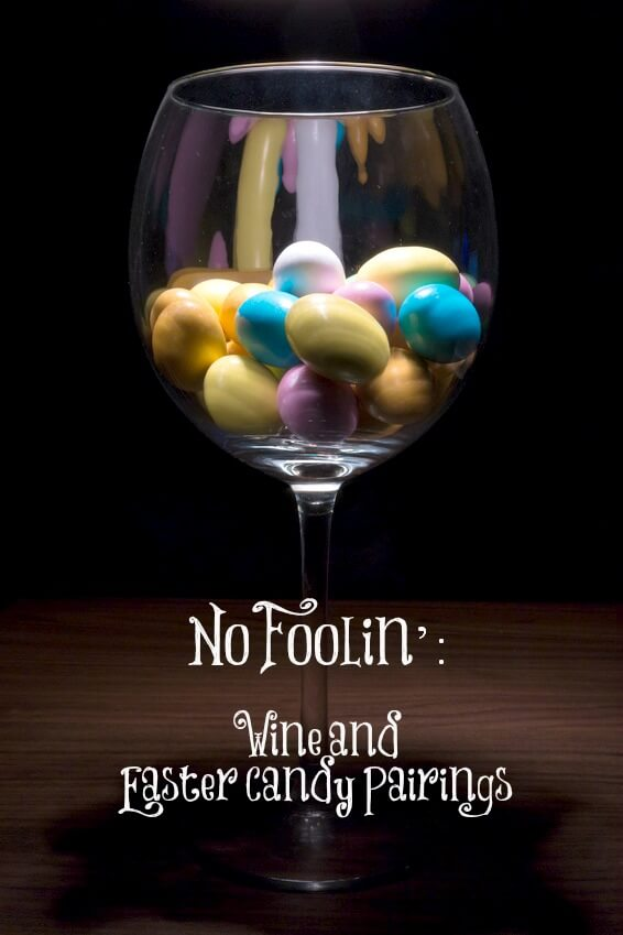 wine and Easter candy cover