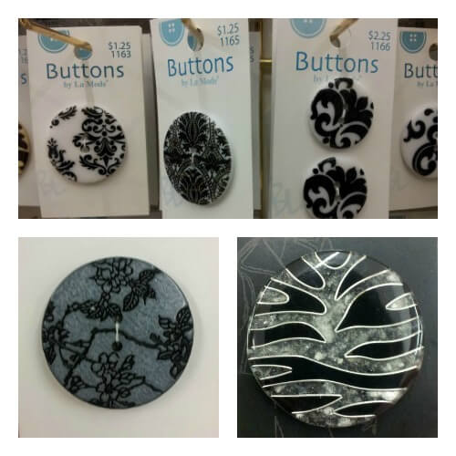 Black and White button collage