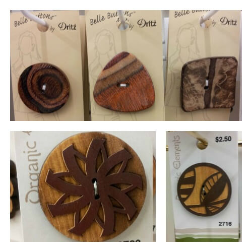 Wooden Buttons Collage