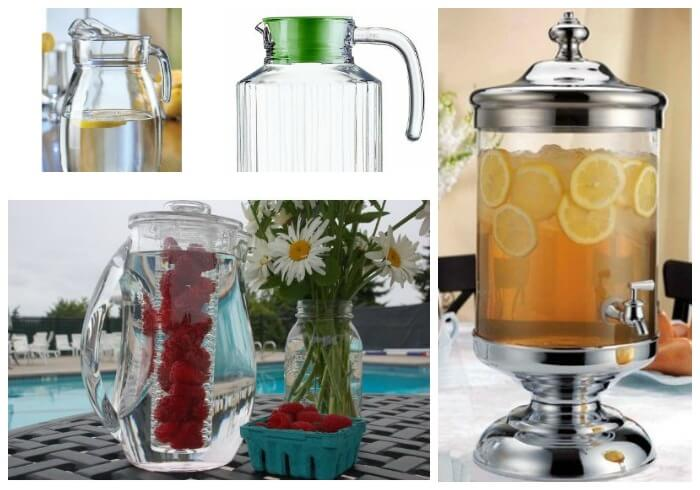 spa water pitchers Summer Thirst Quenchers: Herb & Fruit Infused Spa Water Recipes