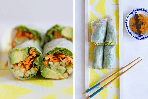 Vegan Spring Rolls _ Photo Credit Figgy and Sprout