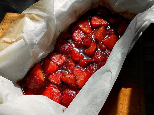 strawberries roasted in balsamic vinegar