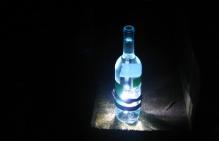 wine bottle headlight