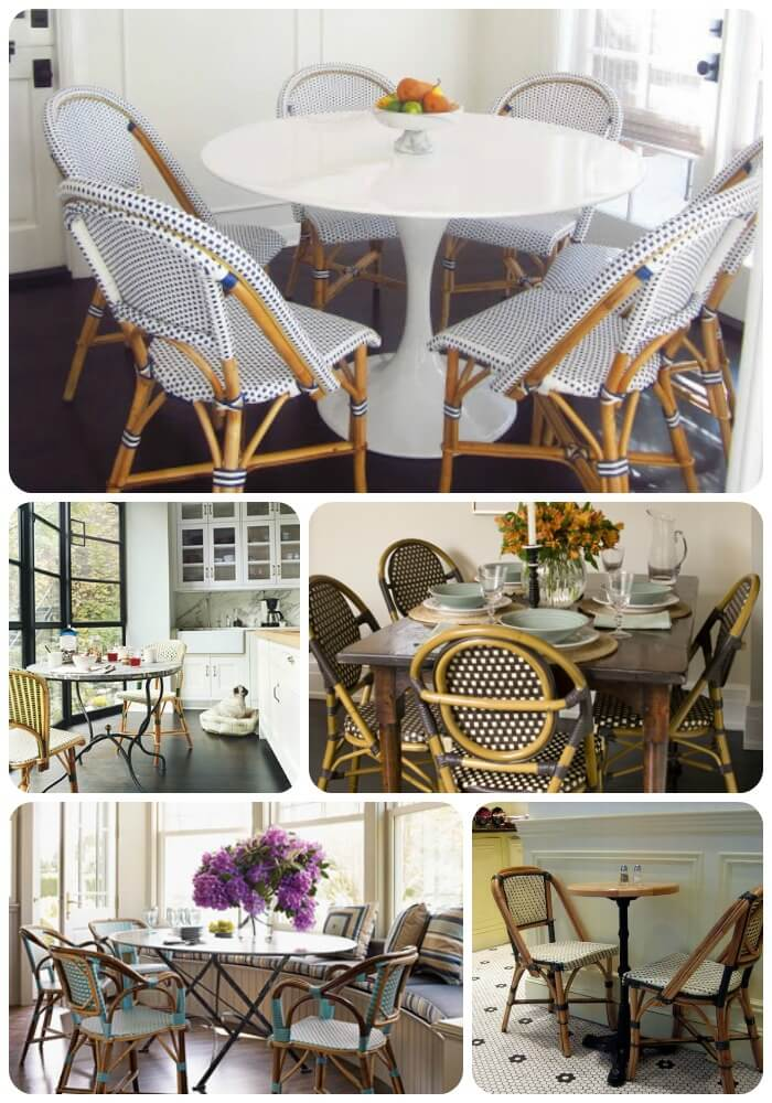 Breakfast Nook Collage 3 Ways to Use French Café Chairs to Bring a Little Bit of Paris into Your Home