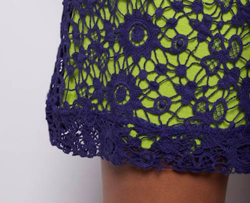 PBJ skirt detail Stitched from Head to Toe: Modern Day Crochet Trends
