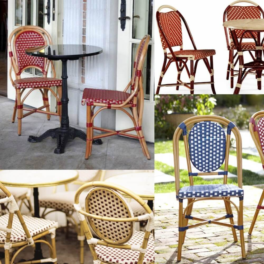Patio collage 3 Ways to Use French Café Chairs to Bring a Little Bit of Paris into Your Home