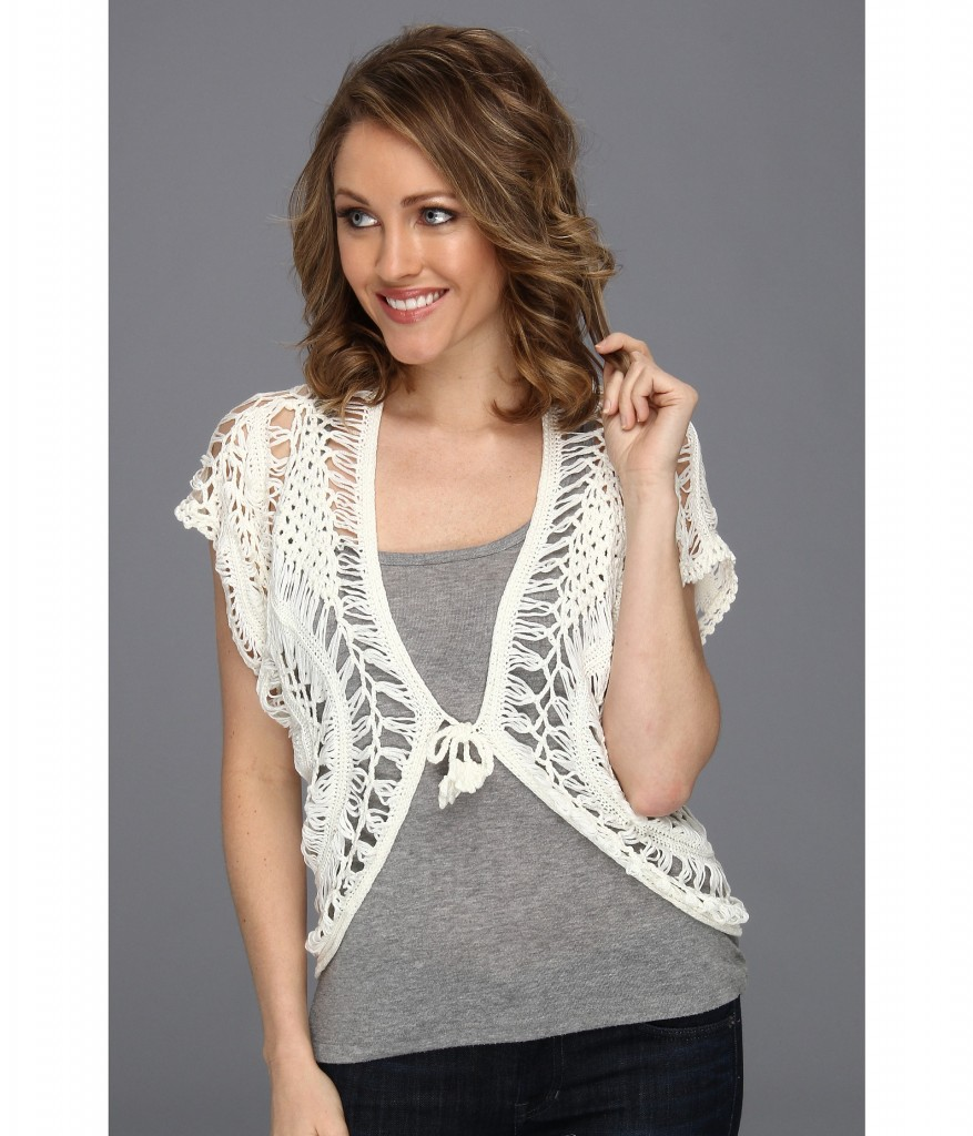 Roper cardi 877x1024 Stitched from Head to Toe: Modern Day Crochet Trends