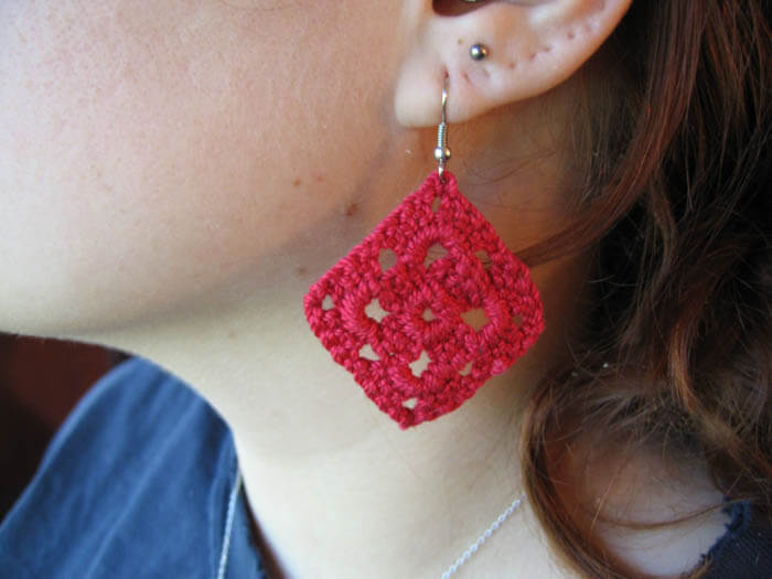 earrings Stitched from Head to Toe: Modern Day Crochet Trends