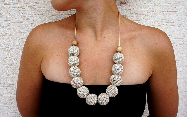 necklace Stitched from Head to Toe: Modern Day Crochet Trends