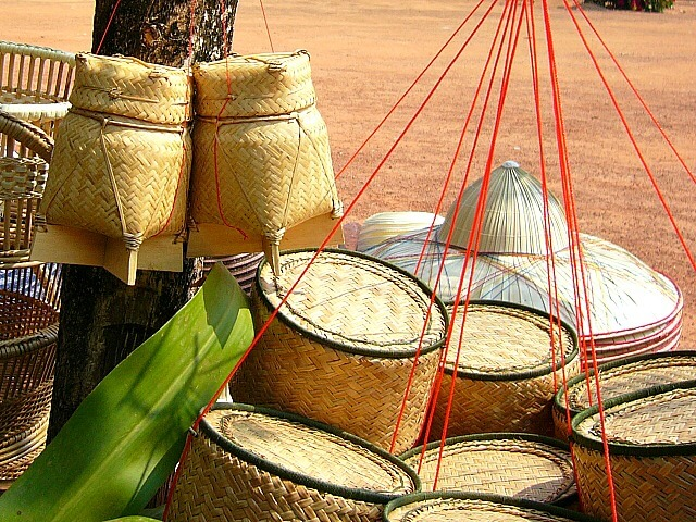 bamboo rice containers