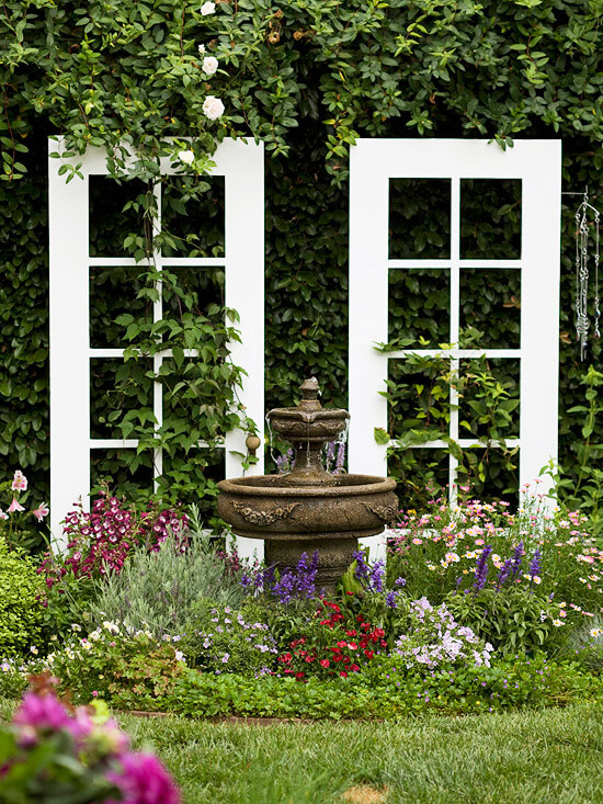 7 ways to upscale upcycled french doors for Outdoor garden doors