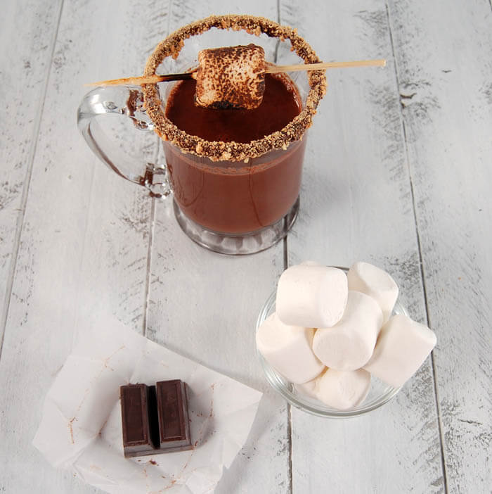 Plum DeLuxe Smores Cocktail