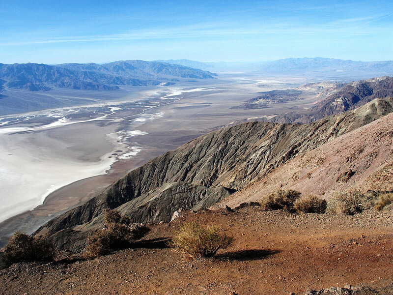 the view from dante's peak - death valley national park