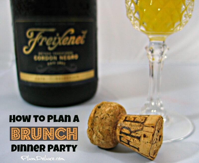 how to plan a brunch dinner party