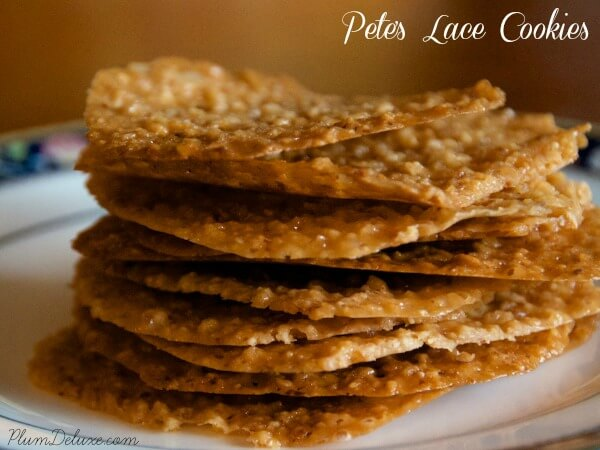 pete's lace cookies recipe