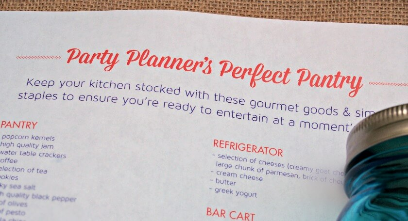 party planner perfect pantry