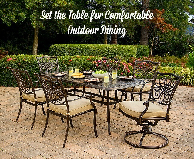 Set The Table For Comfortable Outdoor Dining