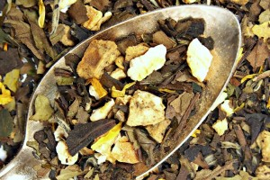 peach pear organic white loose leaf tea blend