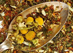 organic sleepy tea with chamomile vanilla peppermint