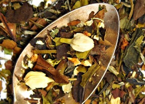 jasmine tangerine white loose leaf tea blend