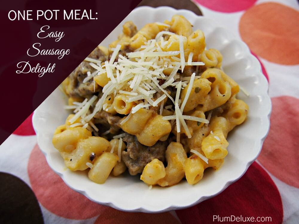 One Pot Meal Recipe: Easy Sausage Delight (Hamburger Helper Copycat)