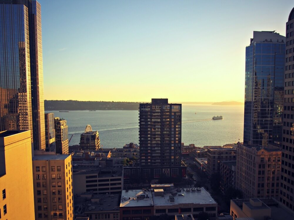 seattle downtown view from the motif seattle hotel
