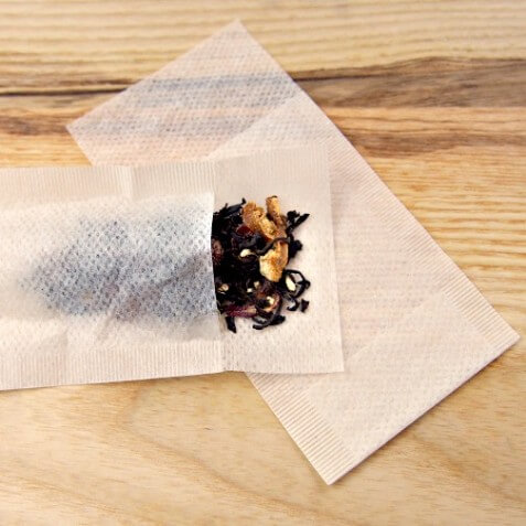 unbleached organic loose leaf tea bags