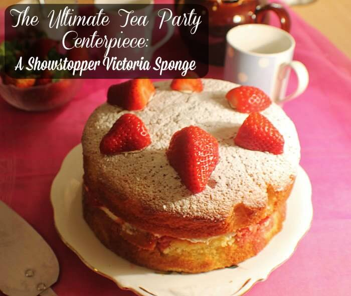 The Ultimate Tea Party Centerpiece: A Showstopper Victoria Sponge