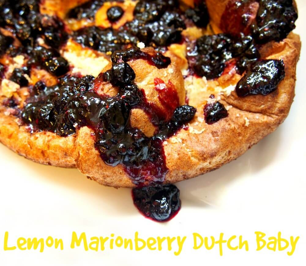 lemon marionberry dutch baby recipe