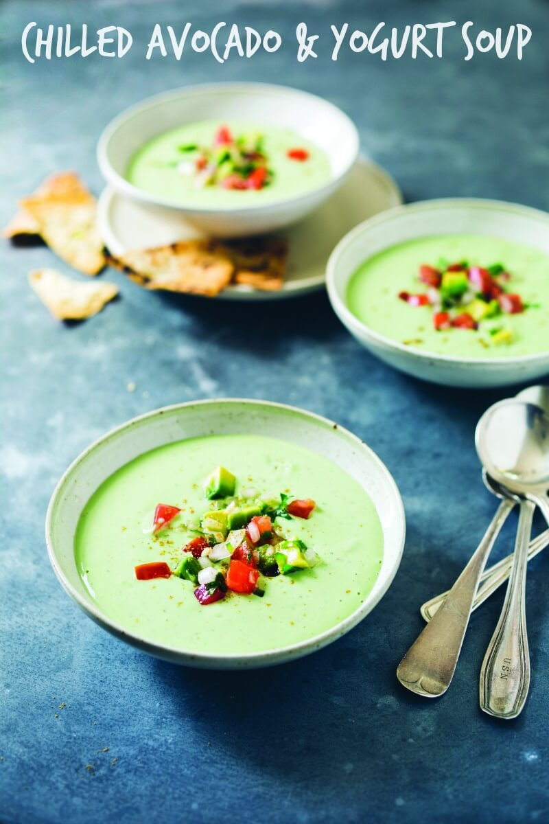 chilled avcaodo & yogurt soup