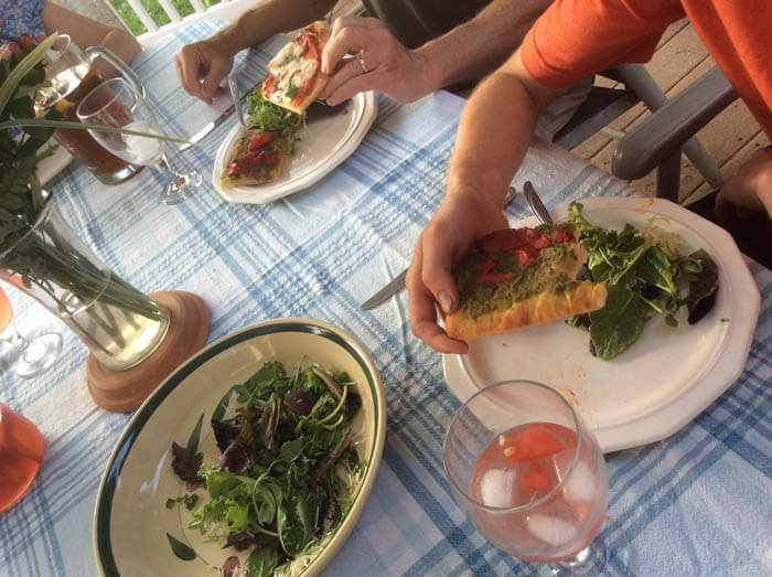 Back Porch Stonefire Pizza Party